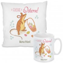 Kissen oder Tasse: Frohe Ostern! (personalisierbar)