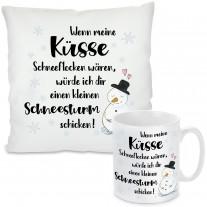Kissen oder Tasse mit Motiv - Schneesturm