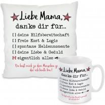 Kissen oder Tasse: Liebe Mama, danke dir für...