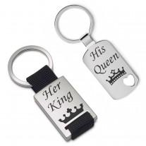 Schlüsselanhänger Set - His Queen - Her King