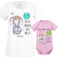 Funshirt oder Tanktop:  Beste Mama der Welt! - Gut gemacht Mama. Ich bin Toll geworden! (personalisierbar)