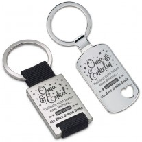 Schlüsselanhänger: Ein Herz und eine Seele (Oma - Enkelin / Enkel)