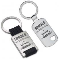 Schlüsselanhänger: Single am Valentinstag