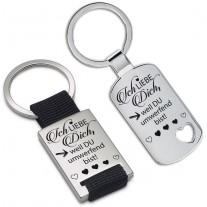 Schlüsselanhänger: Ich liebe Dich, weil Du umwerfend bist.