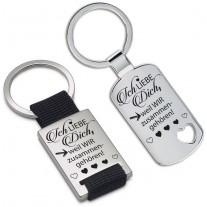 Schlüsselanhänger: Ich liebe dich, weil WIR zusammengehören!