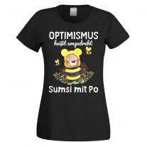 Funshirt oder Tanktop: Optimismus heißt umgedreht Sumsi mit Po!