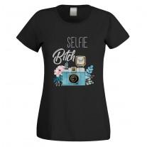 Funshirt weiß oder schwarz, als Tanktop oder Shirt - Selfie-Bitch.