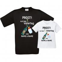 Funshirt: Prost! Auf den 1. Vatertag (personalisierbar, Zahl wählbar)