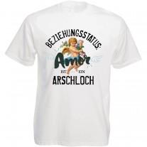 Funshirt oder Tanktop: Beziehungsstatus: Amor ist ein Arschloch!