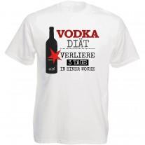 Funshirt weiß oder schwarz, als Tanktop oder Shirt - Vodka Diät...