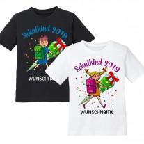 Kinder T-Shirt Modell: Schulkind 2019 - Mädchen / Junge