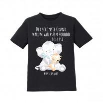 Kinder T-Shirt Modell: Der schönste Grund warum Vatersein so toll ist... (personalisierbar)