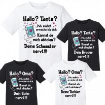 Kindershirt: Hallo? Tante / Oma?