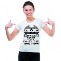 Damen T-Shirt Modell: Tätowierte Frauen