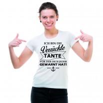 Damen T-Shirt Modell: Verrückte Tante