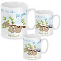 Tasse: Für den liebsten Papa! (personalisierbar, 1-3 Kinder)