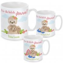 Tasse: Für die liebste Mama! (personalisierbar, 1-3 Kinder)