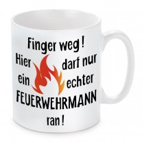 Tasse: Finger weg! (Feuerwehrmann)