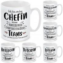 Tasse: Ich bin stolze Chefin / Abteilungsleiterin / Vorgesetzte / Leiterin / Tutorin / Kollegin ...