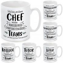 Tasse: Ich bin stolzer Chef / Abteilungsleiter / Vorgesetzter / Leiter / Tutor / Kollege ...