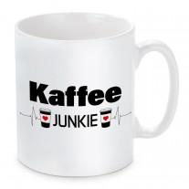 Tasse mit Motiv - Kaffee-Junkie