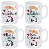 Tasse mit Motiv - Beste / bester Krankenschwester / Krankenpfleger / Altenpfleger / Altenpflegerin der Welt.
