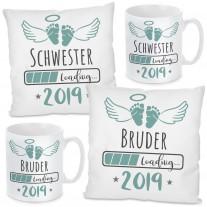 Kissen oder Tasse: 2019 Schwester / Bruder LOADING...