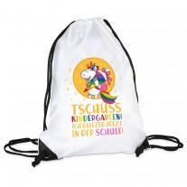 Turnbeutel Modell: Tschüss Kindergarten! Ich glitzer jetzt in der Schule!