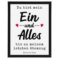 Wandbild: Ein und Alles (personalisierbar)