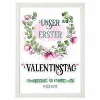 Wandbild: Unser erster Valentinstag (personalisierbar)