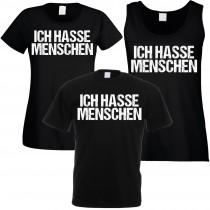 Funshirt weiß oder schwarz - als Tanktop, Damen- oder Herrenshirt - Ich hasse Menschen