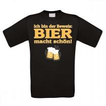 Funshirt weiß oder schwarz - Bier macht schön