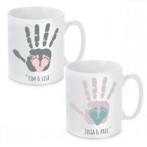 Tasse mit Motiv Modell: Hand und Fuß - Für Mama oder Papa