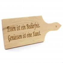 Gravur Holz Schneidebrett 26 cm mit Griff 1 cm dick