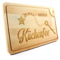 Holz Schneidebrett - Grillbrett - Modell: Küchenfee