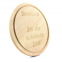 Gravur Holz Schneidebrett rund 25 cm