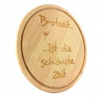 Gravur Holz Schneidebrett rund 30 cm