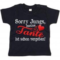 Kinder - Babyshirt Modell: Sorry Jungs meine Tante ist vergeben