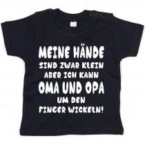 Kinder - Babyshirt Modell: Oma und Opa um den Finger wickeln