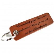 Gravur Leder Schlüsselanhänger 10 cm lang