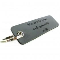 Gravur Leder Schlüsselanhänger 10 cm lang - color