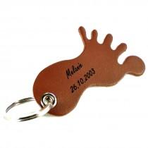 Gravur Leder Schlüsselanhänger in Fußform