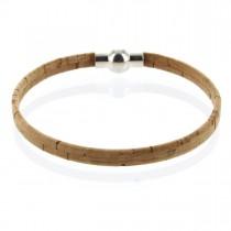 Korkarmband 0,5 cm mit Kugel-Magnetverschluss
