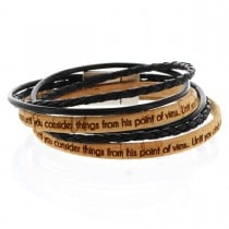 Gravur Korkarmband 0,5 cm mit 2 Schnüren und Magnetverschluss - 2-fach gewickelt