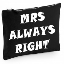 Baumwoll Canvas Kosmetiktasche - Kulturbeutel - Schminktasche Modell: MRS always right