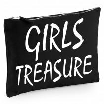 Baumwoll Canvas Kosmetiktasche - Kulturbeutel - Schminktasche Modell: Girls Treasure