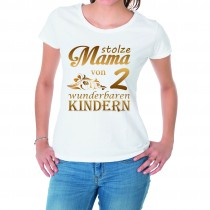 Damen T-Shirt Modell: Stolze Mama