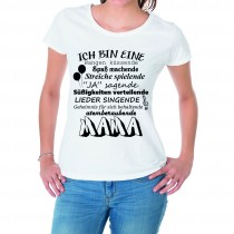 Damen T-Shirt Modell: Atemberaubende Mama
