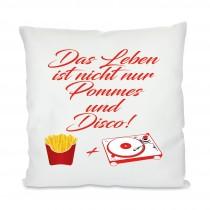 Kissen mit Motiv Modell: Pommes und Disco