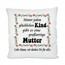 Kissen mit Motiv Modell: Großartige Mutter personalisiert